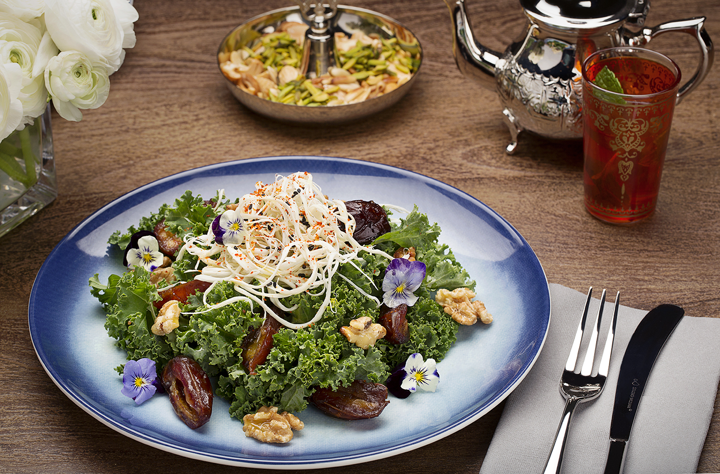 Warm Dates and Kale Salad