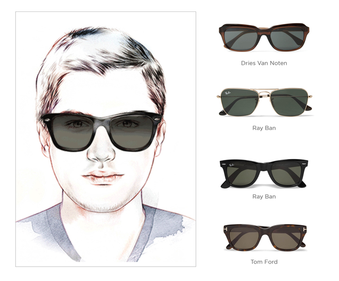 Sunglasses to suit your face shape
