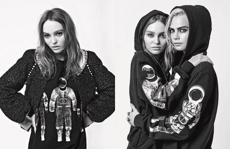 Cara Delevingne and Lily-Rose Depp for Chanel AW17