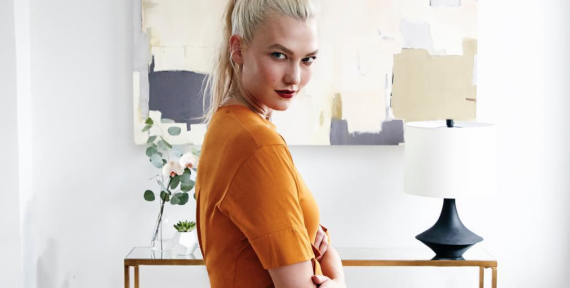 Karlie Kloss platinum hair