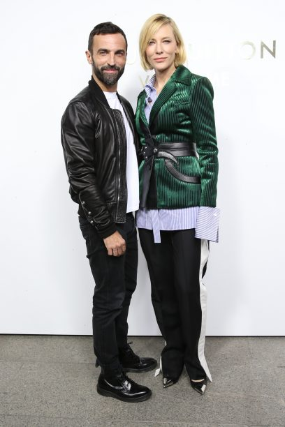 Nicolas Ghesquière and Cate Blanchett