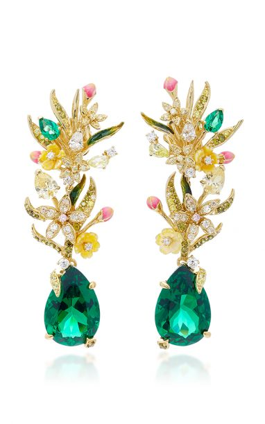 Anabela Chan Posie Emerald Earrings