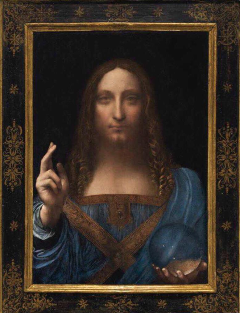 Leonardo Da Vinci Salvator Mundi abu dhabi louvre