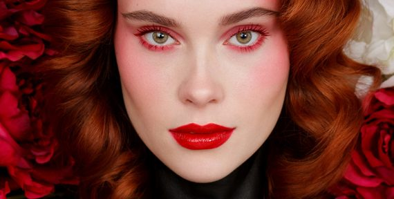 Rouge Louboutin red makeup