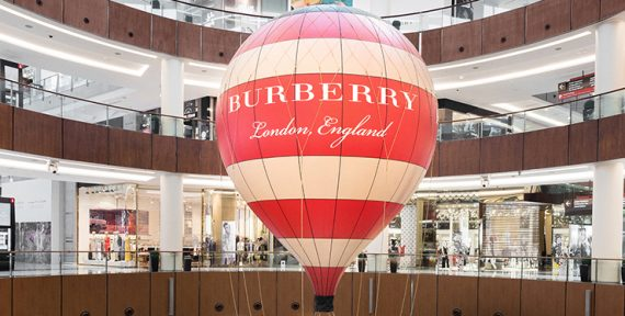 Burberry hot air balloon dubai