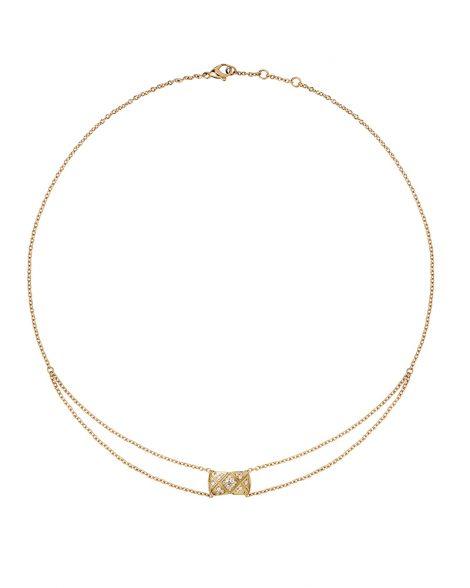 J11359 - Pendentif Coco Crush or beige et diamants