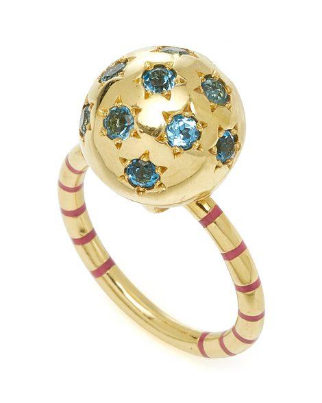 large_sarah-hendler-gold-striped-enamel-blue-topaz-ethel-ball-ring