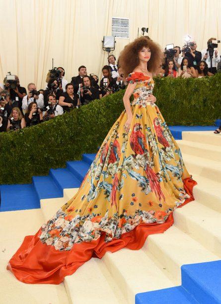Zendaya in Dolce & Gabbana Alta Moda 2017