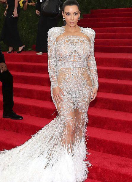 Kim Kardashian in Emilio Pucci 2015