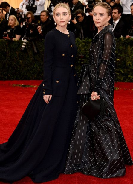 Mary-Kate Olsen in vintage Chanel and Ashley Olsen in Gianfranco Ferré 2014
