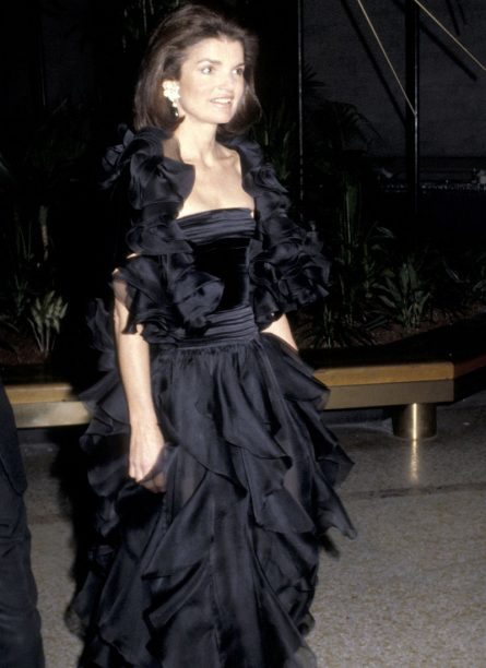 Jacqueline Kennedy Onassis in Valentino 1979