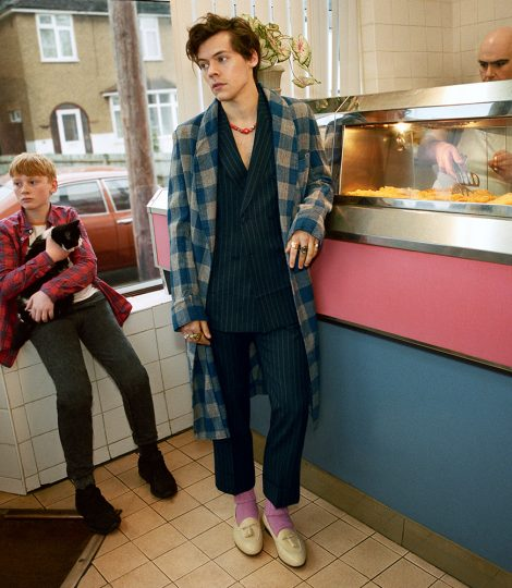 Harry styles gucci fish and chips north london one direction 4