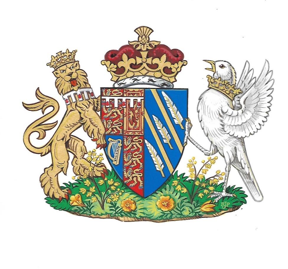 Meghan Markle's and Prince Harry's Joint Monogram coat of arms