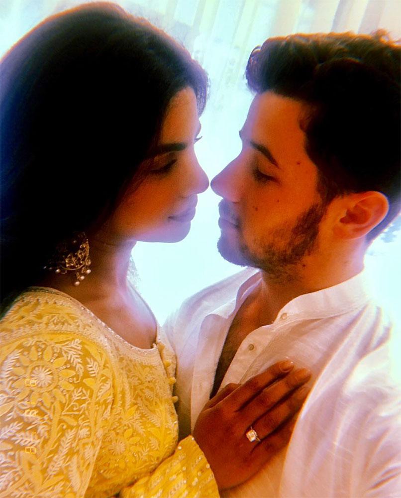 Priyanka Chopra Nick Jonas roka engaged mumbai