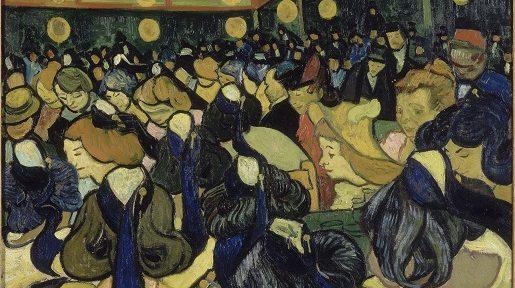 Vincent van Gogh's The dance hall in Arles (1888)