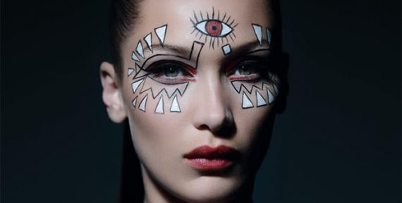 bella hadid halloween makeup dior