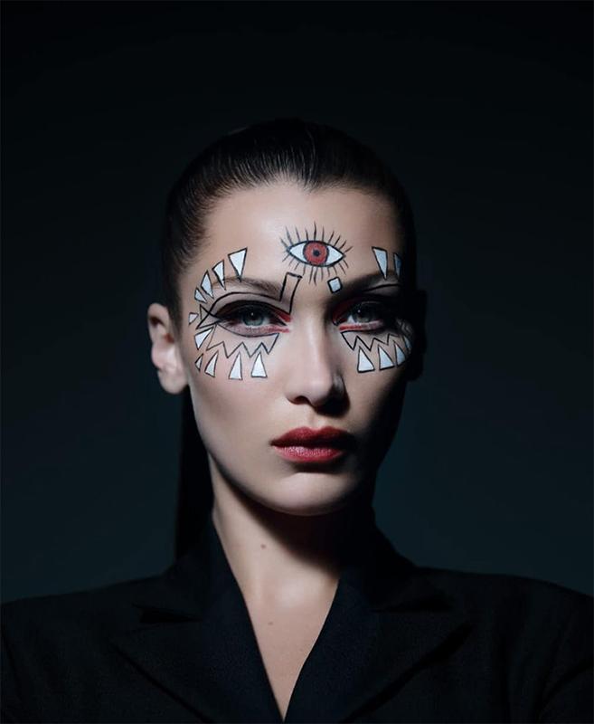 bella hadid halloween makeup dior