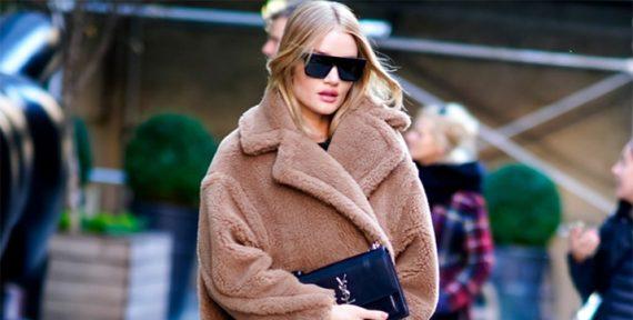 teddy bear coat Rosie Huntington-Whiteley