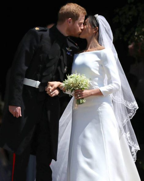 Meghan Markle in Givenchy and Prince Harry