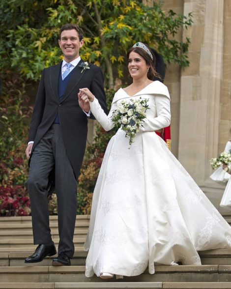 Princess Eugenie in Peter-Pilotto and Jack Brooksbank