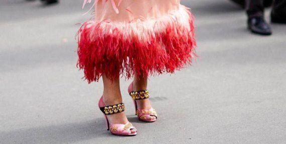 feather trend fashion prada