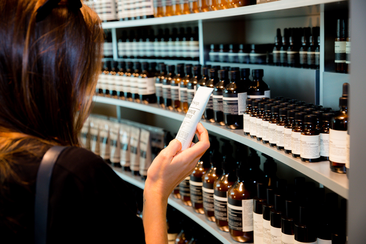 Aesop is vegan friendly, and carries a range of products for body ,face and hair