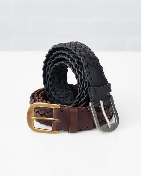 Awling belts in black or brown