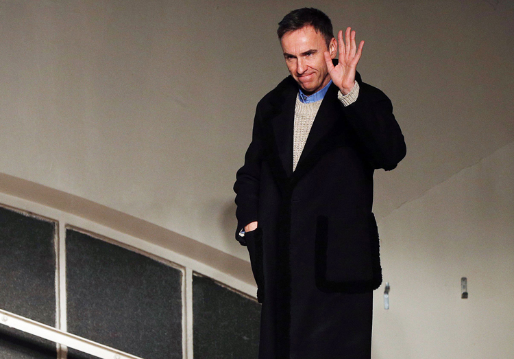 Raf Simons stepped down from his position at Calvin Klein in late 2018