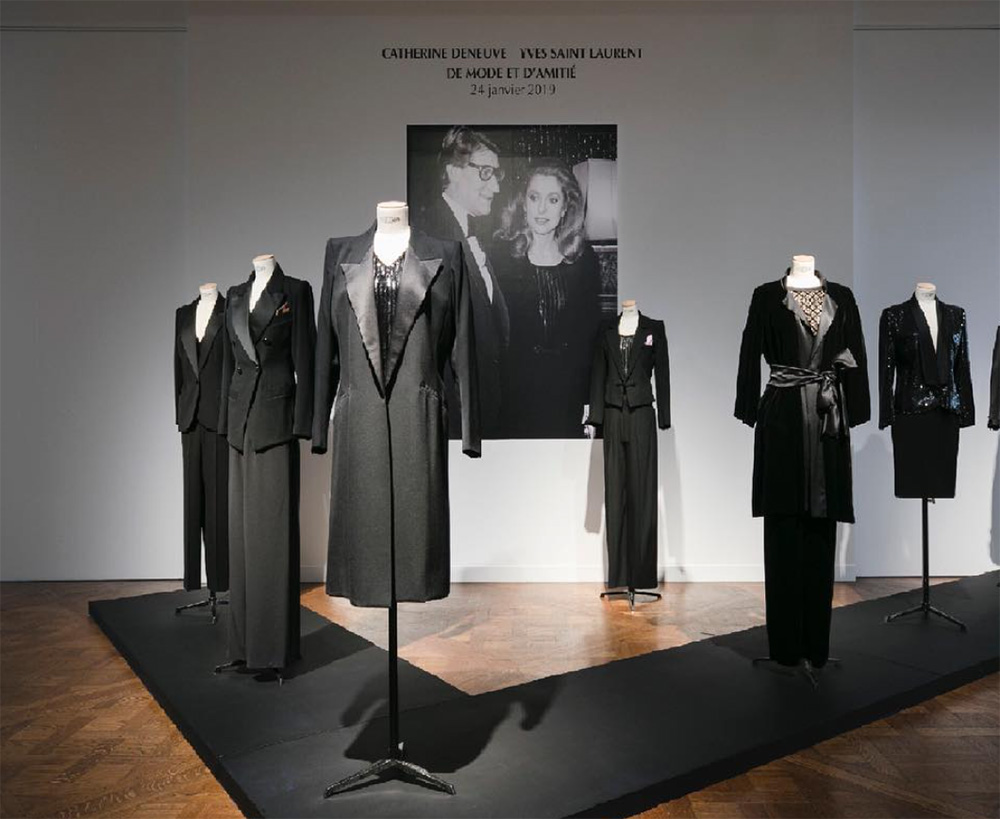 Catherine Deneuve yves saint laurent auction