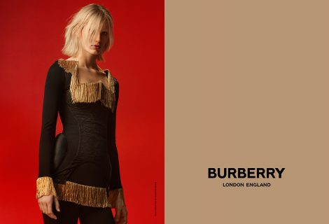Claudia Lavender photographed by Danko Steiner for Burberry c Courtesy of Burberry _ Danko Steiner