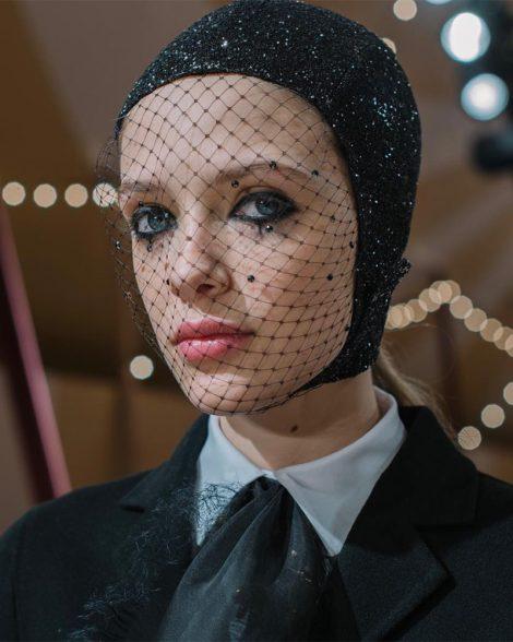 Dark eyeliner at Dior