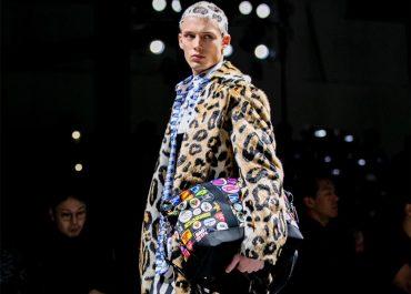 Versace Fall 2019 leopard print hair