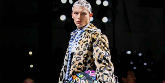Versace Fall 2019 leopard print hair