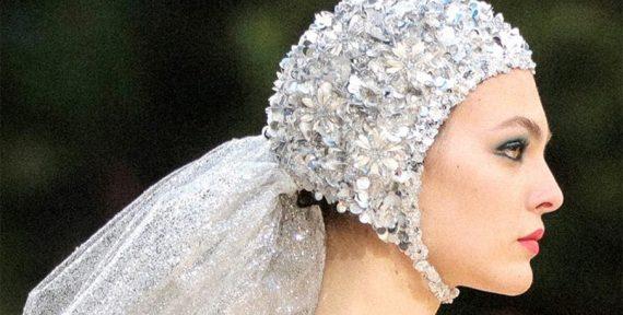 haute couture ss19 headpiece swim caps