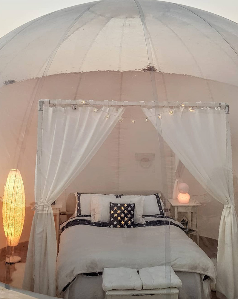 dubai camping bubble tent desert star gazing