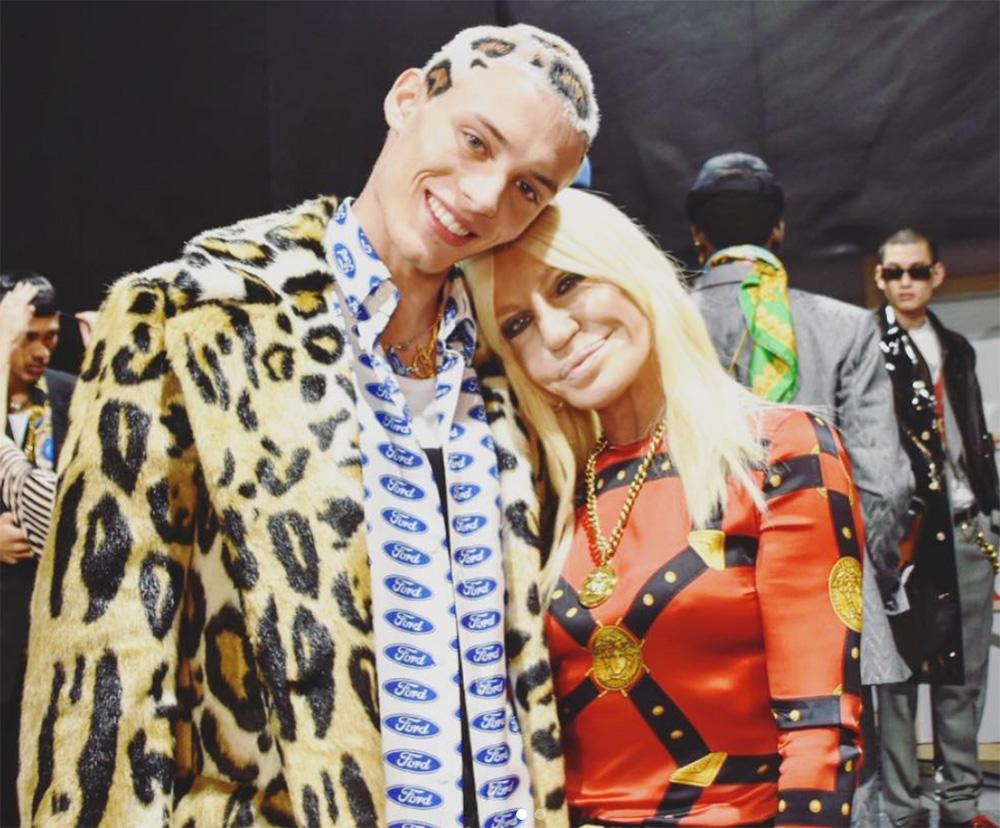leopard print hair versace men fall 2019