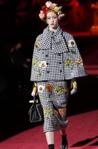 Dolce & Gabbana Milan Fashion Week AW19: Houndstooth and florals