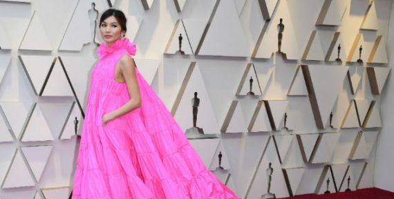 Gemma Chan at Oscars 2019 in Valentino gown