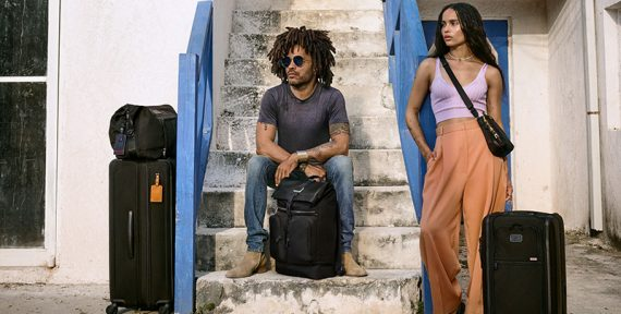 Lenny and Zoë Kravitz TUMI