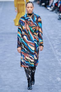 Roberto Cavalli Milan Fashion Week AW19 FW19 colourful tiger print runway look jacket