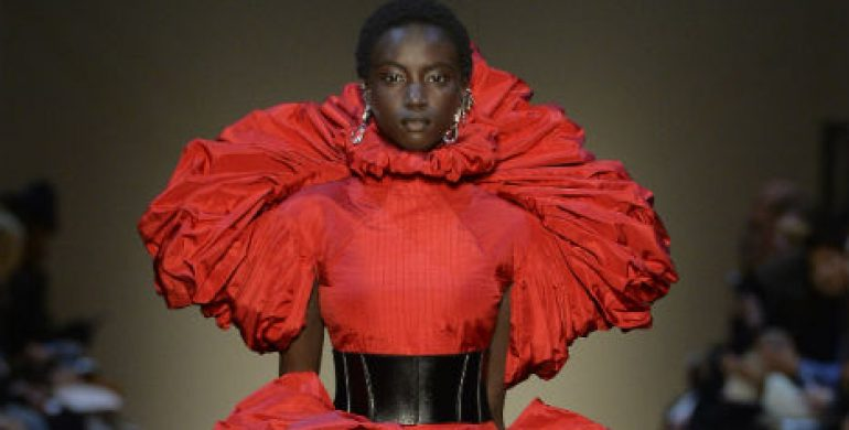 Alexander McQueen AW19 PW19 PFW19 lancaster rose dress