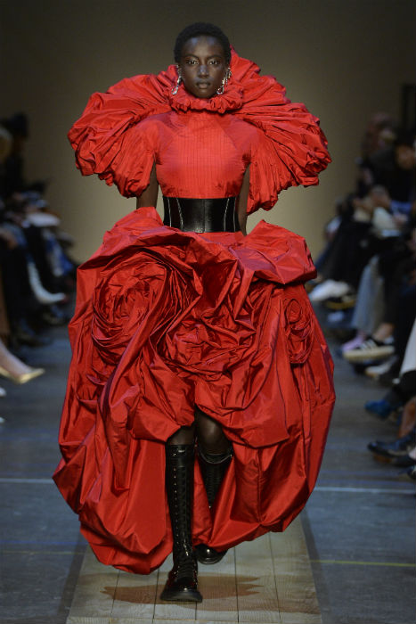 Alexander McQueen AW19 PW19 PFW19 lancaster rose dress