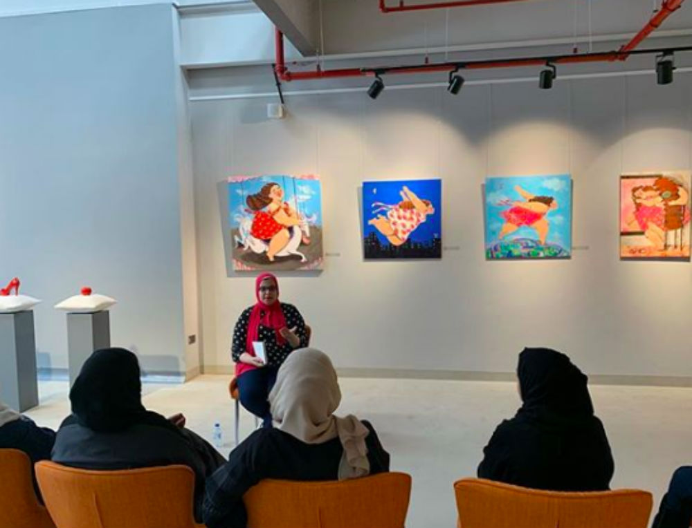 The exhibition brings together artists from all over the world