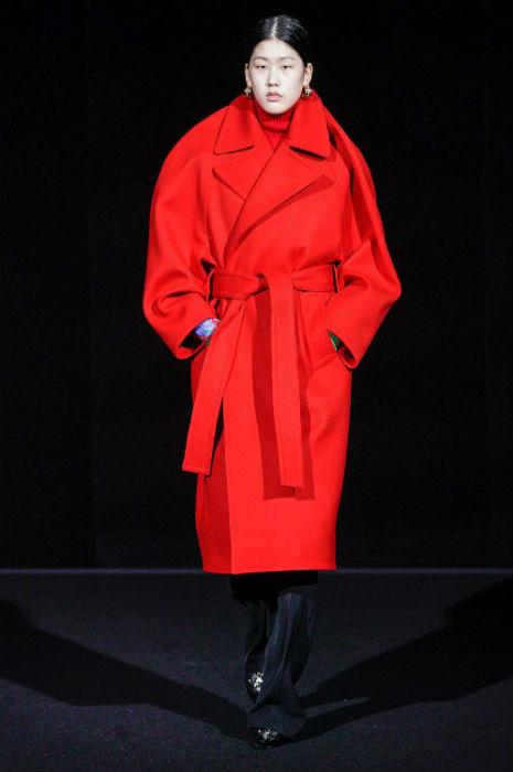 Balenciaga red jacket fall winter 2019 paris fashion week