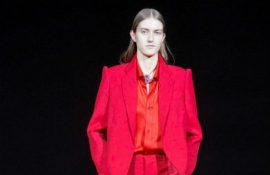 Balenciaga AW19 PFW collection red suit