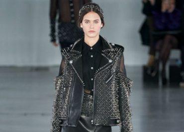 Balmain Paris Fashion Week autumn fall collection ready to wear 2019 - black studs 1