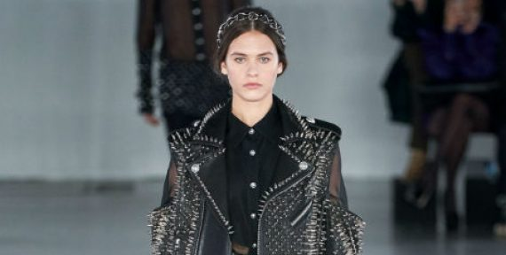 Balmain Paris Fashion Week autumn fall collection ready to wear 2019 - black studs 1