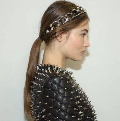 Balmain alice band chain hair accessory