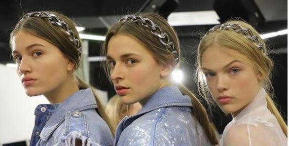 Balmain hair accessories chains fw19