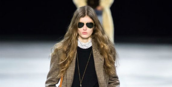 Celine runway AW19 paris fashion week ready to wear tweed and culottes